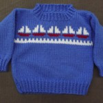 Blue Sailboat Sweater