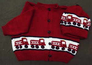 Firetruck Sweater and Hat